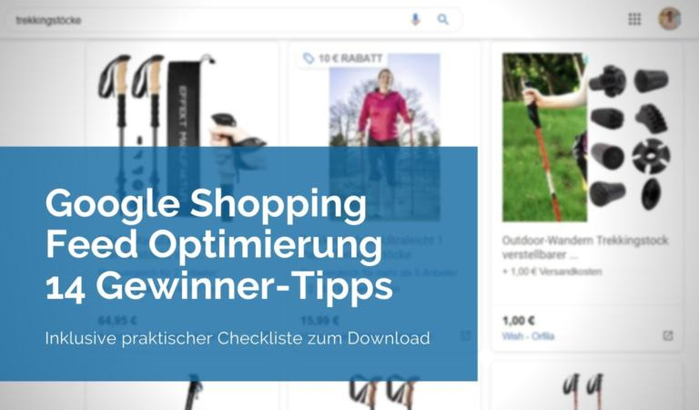 Google Shopping Feed Optimierung