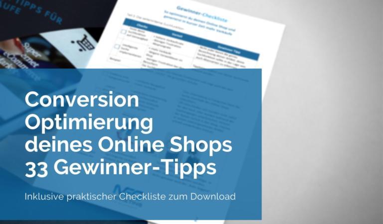 Conversion-Optimierung deines Online Shops 33 Tipps
