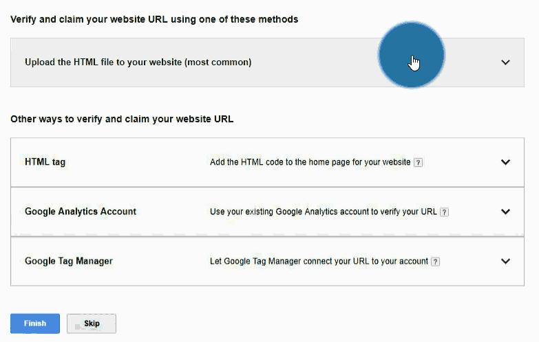 URL Verifizierung mittel HTML-Datei